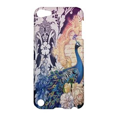 Damask French Scripts  Purple Peacock Floral Paris Decor Apple iPod Touch 5 Hardshell Case