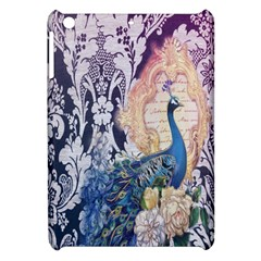 Damask French Scripts  Purple Peacock Floral Paris Decor Apple Ipad Mini Hardshell Case