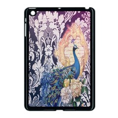 Damask French Scripts  Purple Peacock Floral Paris Decor Apple Ipad Mini Case (black)