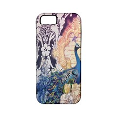 Damask French Scripts  Purple Peacock Floral Paris Decor Apple Iphone 5 Classic Hardshell Case (pc+silicone)