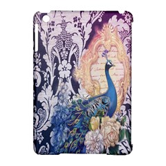 Damask French Scripts  Purple Peacock Floral Paris Decor Apple iPad Mini Hardshell Case (Compatible with Smart Cover)