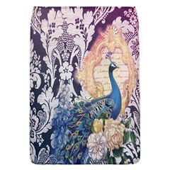 Damask French Scripts  Purple Peacock Floral Paris Decor Removable Flap Cover (Large)