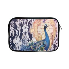 Damask French Scripts  Purple Peacock Floral Paris Decor Apple Ipad Mini Zipper Case