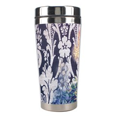 Damask French Scripts  Purple Peacock Floral Paris Decor Stainless Steel Travel Tumbler