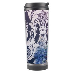 Damask French Scripts  Purple Peacock Floral Paris Decor Travel Tumbler