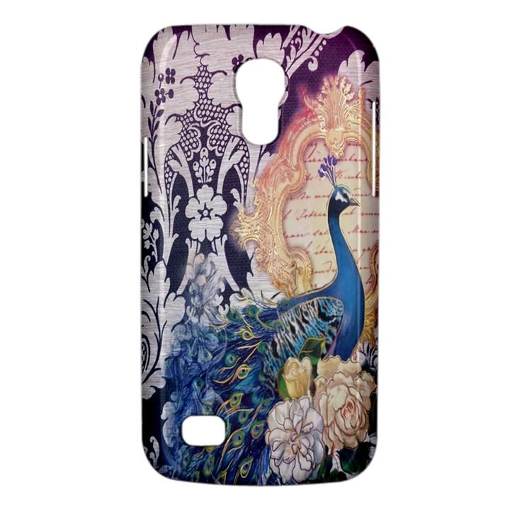 Damask French Scripts  Purple Peacock Floral Paris Decor Samsung Galaxy S4 Mini Hardshell Case