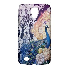 Damask French Scripts  Purple Peacock Floral Paris Decor Samsung Galaxy S4 Active (I9295) Hardshell Case