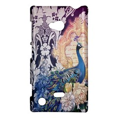 Damask French Scripts  Purple Peacock Floral Paris Decor Nokia Lumia 720 Hardshell Case