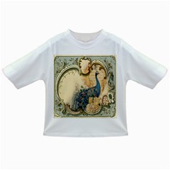 Victorian Swirls Peacock Floral Paris Decor Baby T-shirt