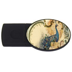 Victorian Swirls Peacock Floral Paris Decor 4GB USB Flash Drive (Oval)