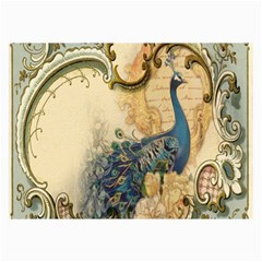 Victorian Swirls Peacock Floral Paris Decor Canvas 24  x 36  (Unframed)