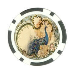 Victorian Swirls Peacock Floral Paris Decor Poker Chip
