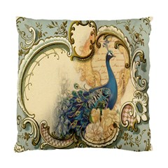Victorian Swirls Peacock Floral Paris Decor Cushion Case (Two Sided)