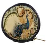 Victorian Swirls Peacock Floral Paris Decor Mini Makeup Case Front