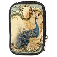Victorian Swirls Peacock Floral Paris Decor Compact Camera Leather Case
