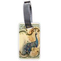 Victorian Swirls Peacock Floral Paris Decor Luggage Tag (Two Sides)