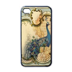 Victorian Swirls Peacock Floral Paris Decor Apple iPhone 4 Case (Black)