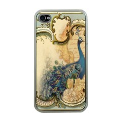 Victorian Swirls Peacock Floral Paris Decor Apple iPhone 4 Case (Clear)