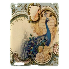 Victorian Swirls Peacock Floral Paris Decor Apple iPad 3/4 Hardshell Case