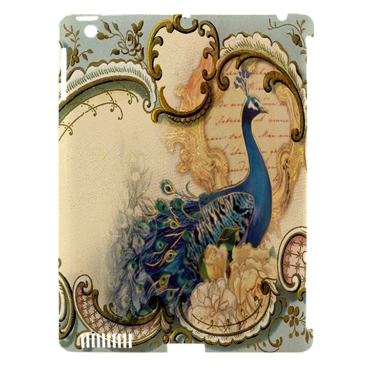 Victorian Swirls Peacock Floral Paris Decor Apple iPad 3/4 Hardshell Case (Compatible with Smart Cover)