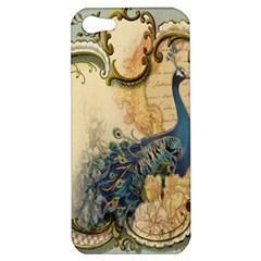 Victorian Swirls Peacock Floral Paris Decor Apple Iphone 5 Hardshell Case