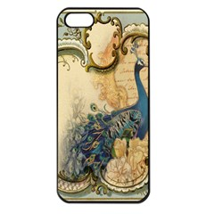 Victorian Swirls Peacock Floral Paris Decor Apple Iphone 5 Seamless Case (black)