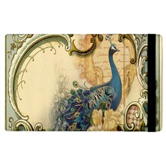 Victorian Swirls Peacock Floral Paris Decor Apple iPad 3/4 Flip Case