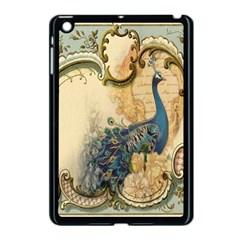 Victorian Swirls Peacock Floral Paris Decor Apple Ipad Mini Case (black)
