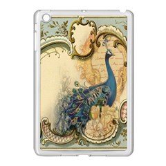 Victorian Swirls Peacock Floral Paris Decor Apple iPad Mini Case (White)