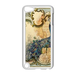 Victorian Swirls Peacock Floral Paris Decor Apple iPod Touch 5 Case (White)