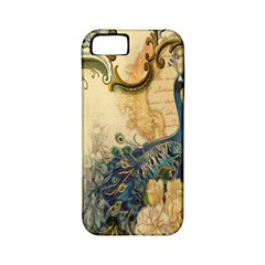 Victorian Swirls Peacock Floral Paris Decor Apple iPhone 5 Classic Hardshell Case (PC+Silicone)