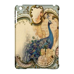 Victorian Swirls Peacock Floral Paris Decor Apple iPad Mini Hardshell Case (Compatible with Smart Cover)