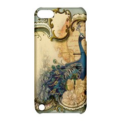 Victorian Swirls Peacock Floral Paris Decor Apple iPod Touch 5 Hardshell Case with Stand