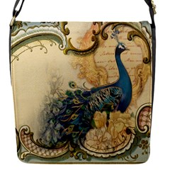 Victorian Swirls Peacock Floral Paris Decor Removable Flap Cover (Small)