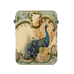 Victorian Swirls Peacock Floral Paris Decor Apple iPad 2/3/4 Protective Soft Case