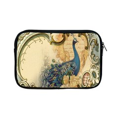 Victorian Swirls Peacock Floral Paris Decor Apple iPad Mini Zipper Case