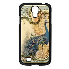 Victorian Swirls Peacock Floral Paris Decor Samsung Galaxy S4 I9500/ I9505 (black)
