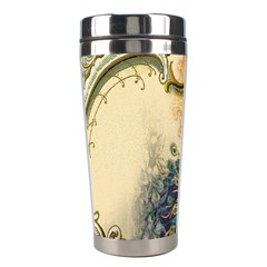 Victorian Swirls Peacock Floral Paris Decor Stainless Steel Travel Tumbler