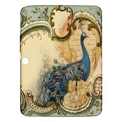 Victorian Swirls Peacock Floral Paris Decor Samsung Galaxy Tab 3 (10.1 ) P5200 Hardshell Case