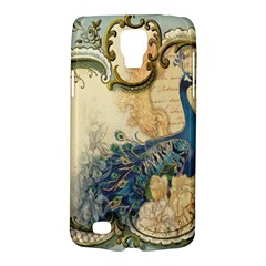 Victorian Swirls Peacock Floral Paris Decor Samsung Galaxy S4 Active (I9295) Hardshell Case