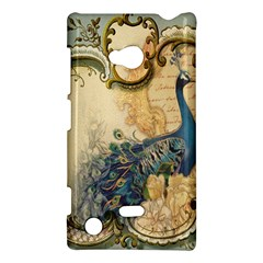 Victorian Swirls Peacock Floral Paris Decor Nokia Lumia 720 Hardshell Case