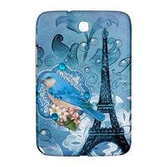 Girly Blue Bird Vintage Damask Floral Paris Eiffel Tower Samsung Galaxy Note 8 0 N5100 Hardshell Case