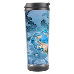 Girly Blue Bird Vintage Damask Floral Paris Eiffel Tower Travel Tumbler