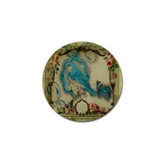 Victorian Girly Blue Bird Vintage Damask Floral Paris Eiffel Tower Golf Ball Marker 10 Pack