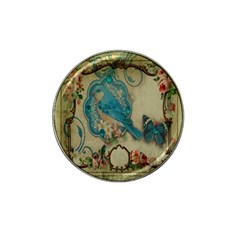 Victorian Girly Blue Bird Vintage Damask Floral Paris Eiffel Tower Golf Ball Marker 4 Pack (for Hat Clip)