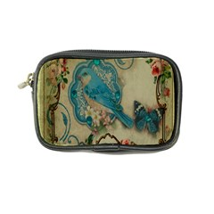 Victorian Girly Blue Bird Vintage Damask Floral Paris Eiffel Tower Coin Purse