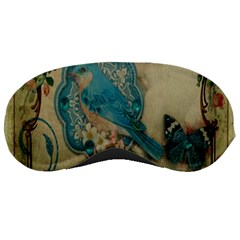 Victorian Girly Blue Bird Vintage Damask Floral Paris Eiffel Tower Sleeping Mask