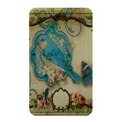 Victorian Girly Blue Bird Vintage Damask Floral Paris Eiffel Tower Memory Card Reader (rectangular)