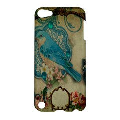 Victorian Girly Blue Bird Vintage Damask Floral Paris Eiffel Tower Apple iPod Touch 5 Hardshell Case