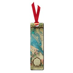 Victorian Girly Blue Bird Vintage Damask Floral Paris Eiffel Tower Small Bookmark